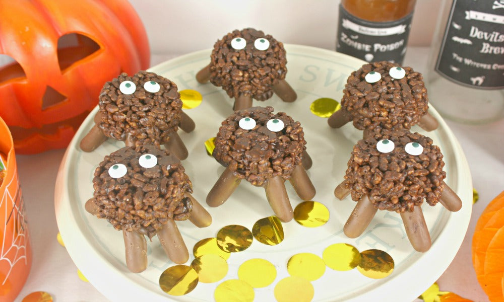 Halloween Blog Party Ideas - Creepy Halloween Party Chocolate Spiders Recipe My Dream Party Shop