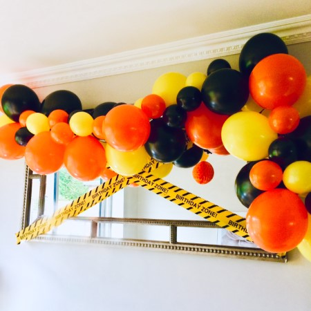 Orange, Yellow and Black for a Digger Themed Party I My Dream Party Shop