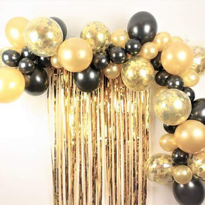 Balloon Garland Kits I Black and Gold Balloon Garland Kit I UK