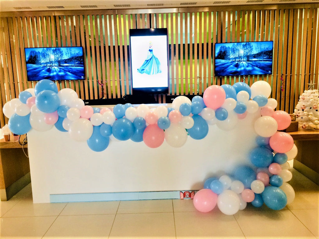 Cinderella Themed Balloon Garland Corporate Family Fun Day