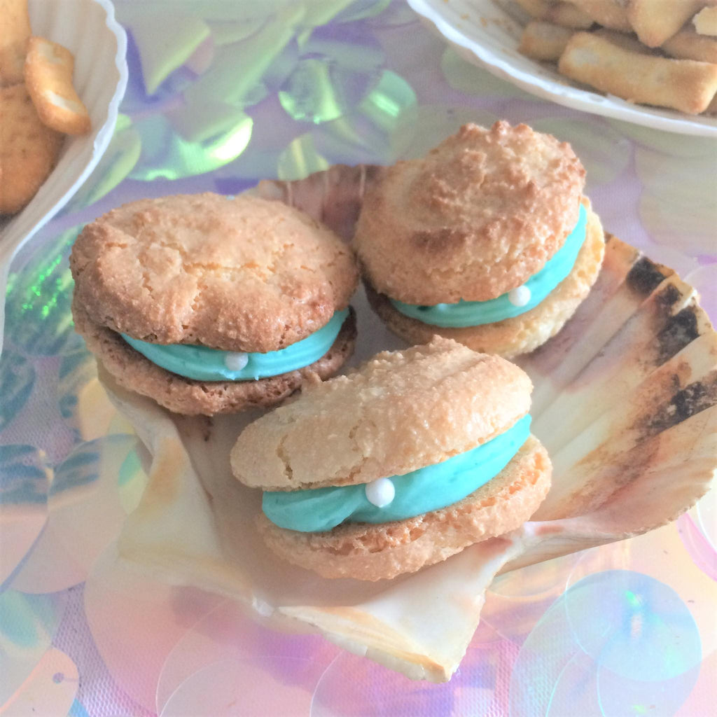 Under the Sea Clam Biscuits I Under the Sea Themed Party Blog I My Dream Party Shop I UK