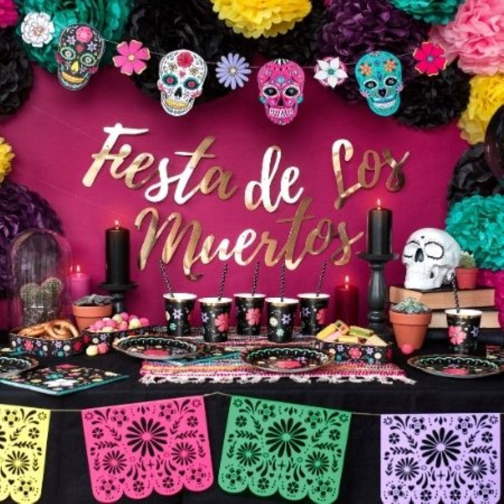 Day of the Dead Garland I Day of the Dead Party Supplies I My Dream Party Shop UK