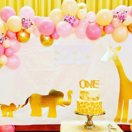 Pink, Blush and Chrome Gold Balloon Garland Installation I My Dream Party Shop Ruislip