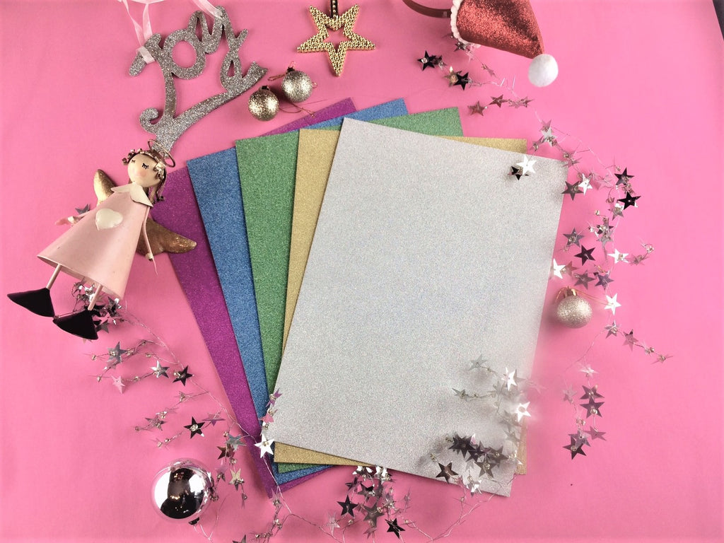 Glitter Card for Reindeer Antlers
