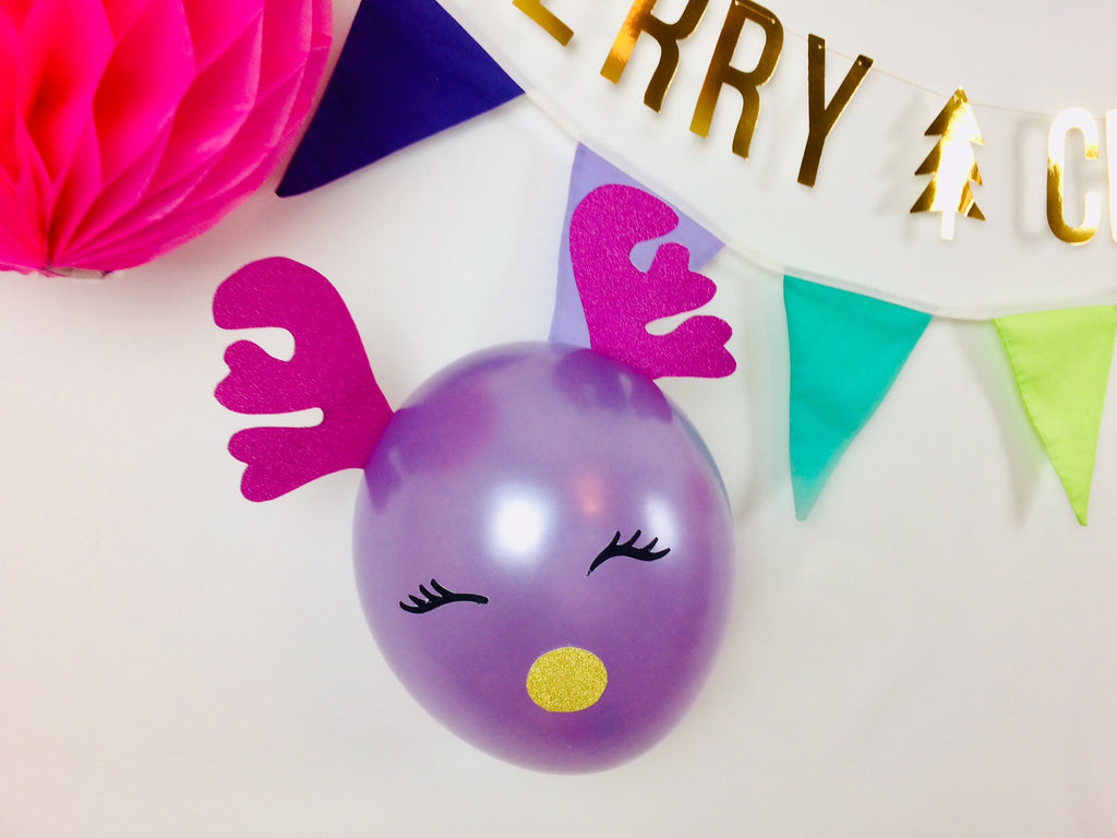 Reindeer Balloon Purple