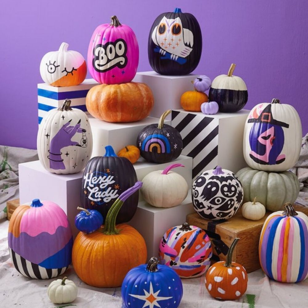 Painted Pumpkins I Halloween Party Ideas During Covid I My Dream Party Shop