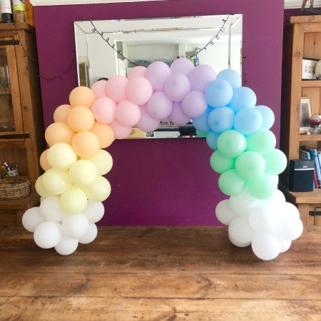 Pastel Rainbow Mini Balloon Table Arch Decoration I Balloon Decorations Ruislip I My Dream Party Shop