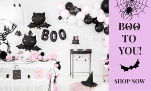 Pink and Black Halloween Party I Modern Halloween Decorations I My Dream Party Shop UK