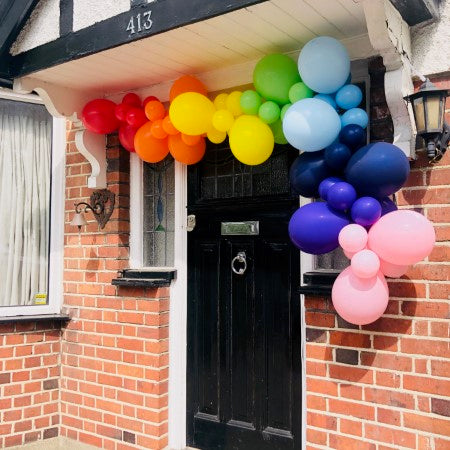 Rainbow Balloon Garland Installation I My Dream Party Shop Ruislip