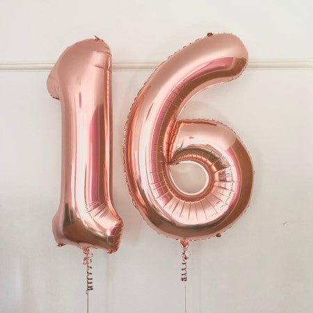 Rose Gold Giant 16 Number Balloons I My Dream Party Shop Ruislip