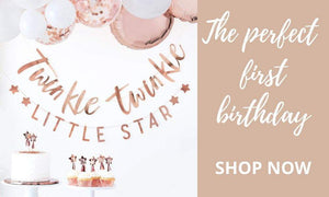 The Perfect First Birthday Party - Rose Gold First Birthday Party Decorations and Supplies I UK