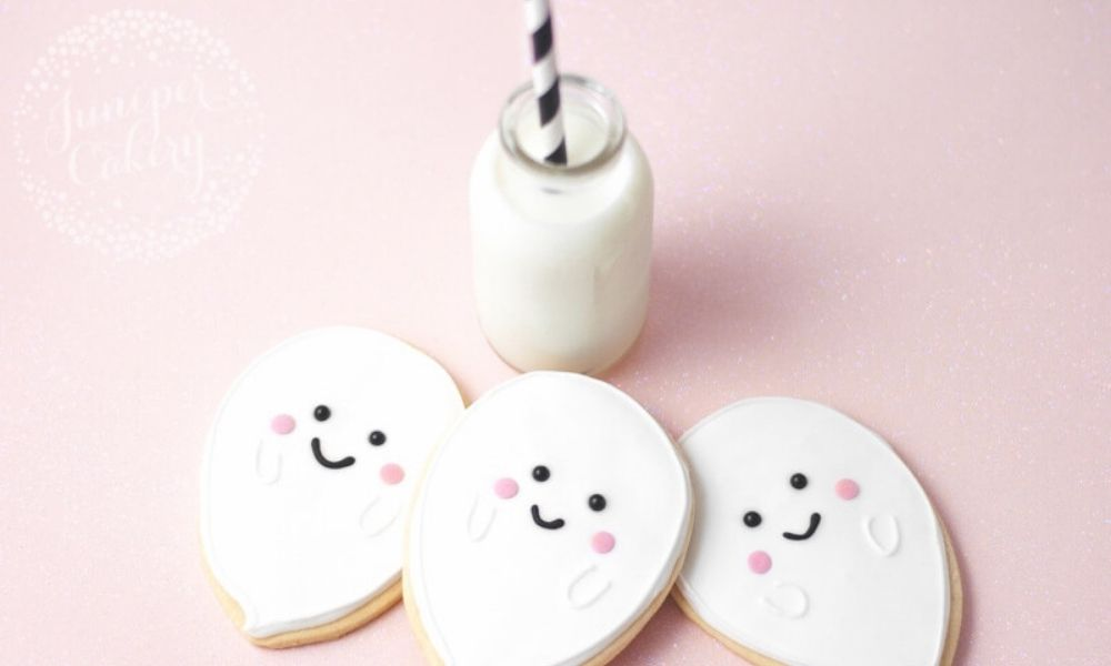 Ghost Cookies  I Juniper Bakery I Halloween Party Ideas During Covid I My Dream Party Shop