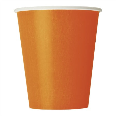 Pumpkin Orange Paper Cups I Orange Party Tableware I My Dream Party Shop UK