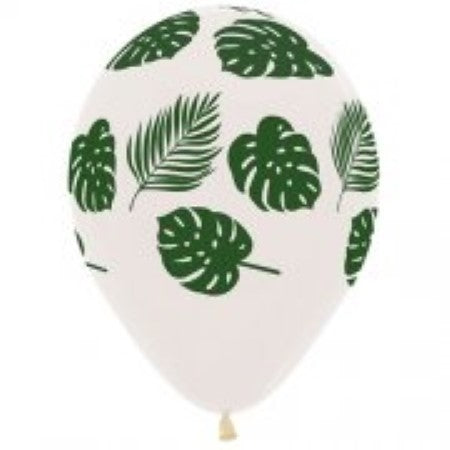 12 Inch Tropical Leaves Clear Latex Balloons I Tropical Party I My Dream Party Shop I UK