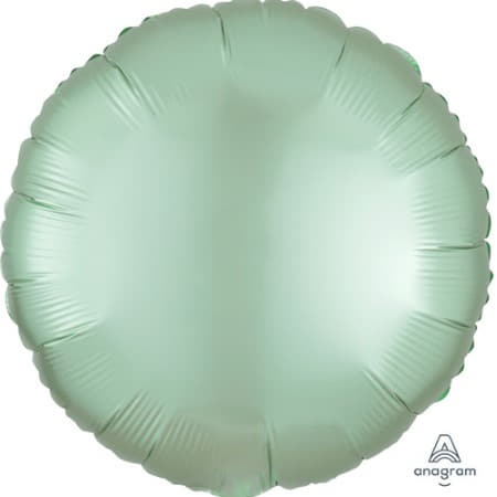 Satin Luxe Pastel Mint Green Round Foil Balloon I Modern Party Balloons I My Dream Party Shop UK