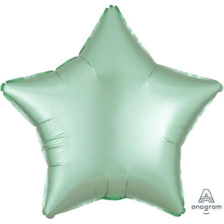 Satin Luxe Pastel Mint Green Star Foil Balloon I Modern Party Balloons I My Dream Party Shop UK