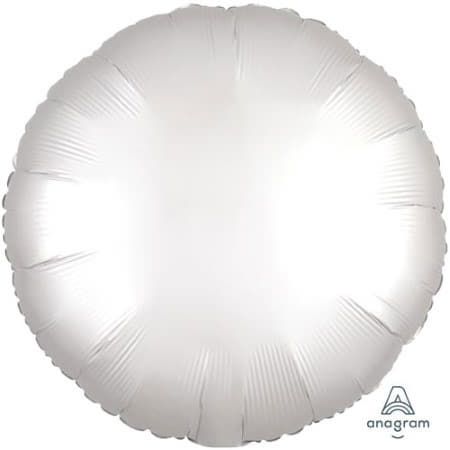 Satin Luxe White Round Foil Balloon I Modern Party Balloons I My Dream Party Shop UK