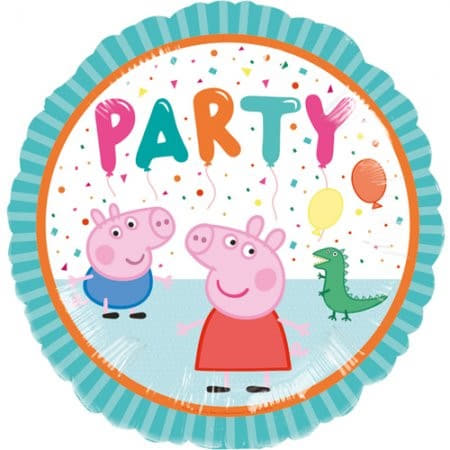 18 Inch Peppa Pig Party Characters Round Foil Balloon I Peppa Pig Party I My Dream Party Shop UK