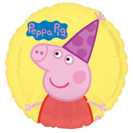 Yellow Peppa Pig Round Foil Balloon I Peppa Pig Party Supplies I My Dream Party Shop UK