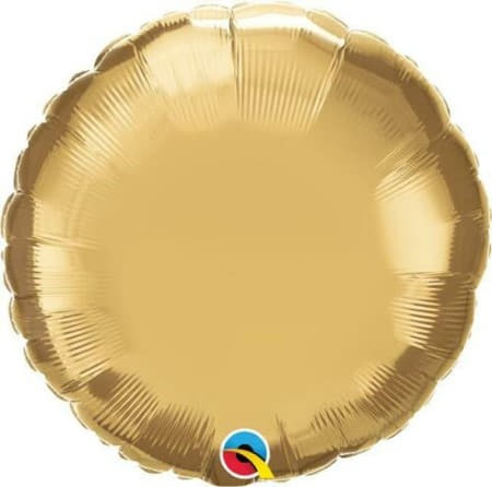 Qualatex Chrome Gold Round Foil Balloon I Modern Gold Party Decorations I My Dream Party Shop UK