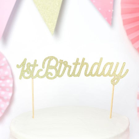 Gold 1st Birthday Cake Topper I My Dream Party Shop I UK