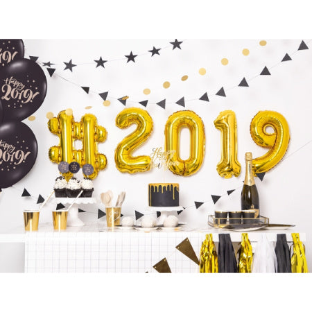 Small Gold Foil Number Balloons 14 inches I My Dream Party Shop I UK