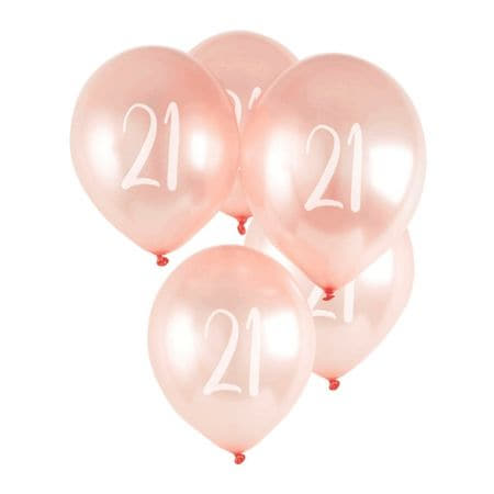 21 Rose Gold Balloons