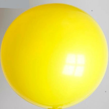 Large Round Giant Yellow 24 Inch Latex Balloon - My Dream Party Shop