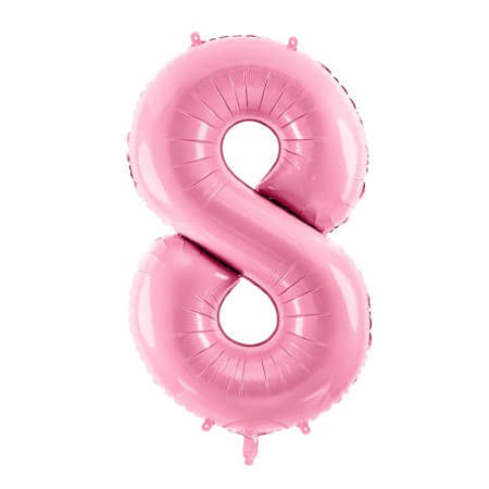 Gigantic Pale Pink Foil Number Eight Balloon 34 Inches I Milestone Birthdays I My Dream Party Shop