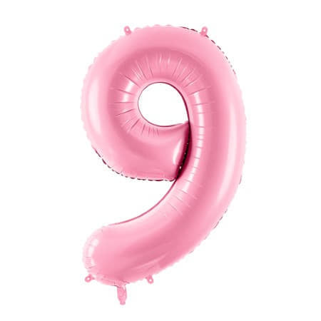 Gigantic Pale Pink Foil Number Nine Balloon 34 Inches I Milestone Birthdays I My Dream Party Shop UK