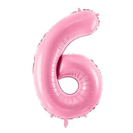 Gigantic Pale Pink Foil Number Six Balloon 34 Inches I Milestone Birthdays I My Dream Party Shop UK