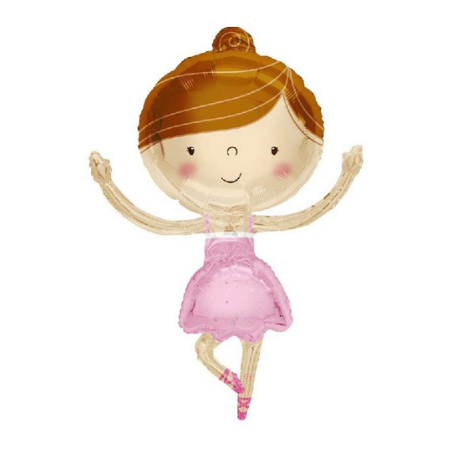 Ballerina Helium Foil Balloon I Helium Balloons Ruislip I My Dream Party Shop