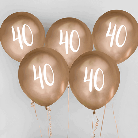 40 Chrome Gold Balloons I 40th Birthday Party Decorations I My Dream Party Shop