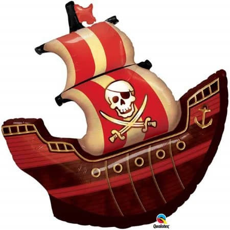 Super Shape 40 Inch Pirate Ship Foil Balloon I Modern Pirate Party I My Dream Party Shop UK