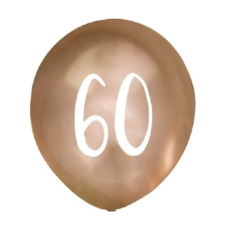 60 Chrome Gold Balloons I 60th Birthday Party Decorations I My Dream Party Shop