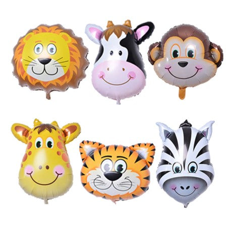 Jungle Animal Foil Balloons Set of 6 I Safari Party Balloons & Decorations I My Dream Party Shop I UK