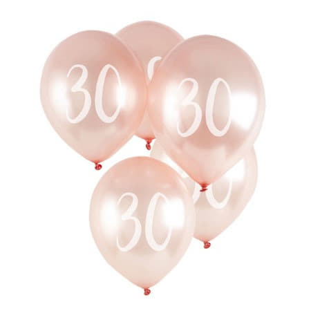 30 Rose Gold Balloons I 30th Birthday Decorations I My Dream Party Shop UK
