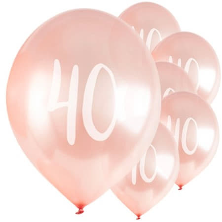 40 Rose Gold Balloons I Milestone Birthday's I My Dream Party Shop UK