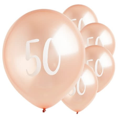 50 Rose Gold Balloons I Modern 50th Birthday Party Decorations I My Dream Party Shop UK