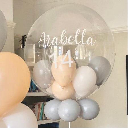 Bespoke Bubble Balloon and Matching Balloon Bouquet I Collection Ruislip I My Dream Party Shop