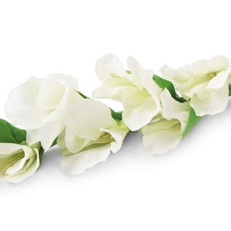 Artificial White Gladioli Flower I Faux Flowers for Parties I UK