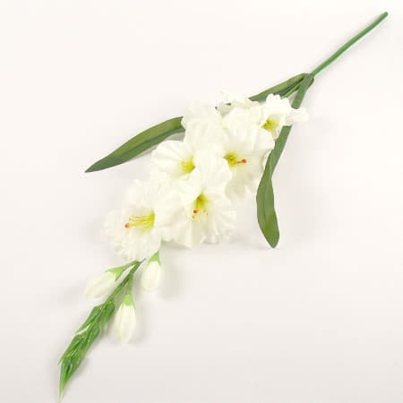 Artificial White Gladioli Flower I Artificial Flowers for Weddings I UK