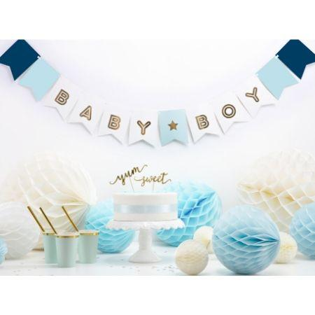 Baby Boy Banner Blue and Gold I Blue Baby Shower Decorations I My Dream Party Shop UK