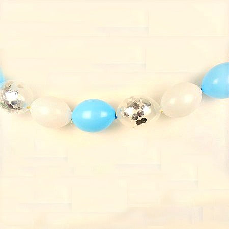 Baby Blue Celebration Linking Balloon Bunting Garland Kit - My Dream Party Shop