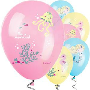 "Mermaid Party - Be A Mermaid Balloons - 11"" Latex - 6 Pack - My Dream Party Shop"