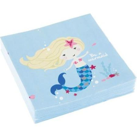 Mermaid Party - Be A Mermaid Lunch Napkins 20pk My Dream Party Shop