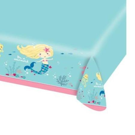 Be A Mermaid Table Cover I Mermaid Party Tableware I My Dream Party Shop I UK