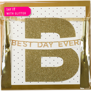Best Day Ever Gold Glitter Banner I Rapunzel or Girls Party Decoration I My Dream Party Shop I UK