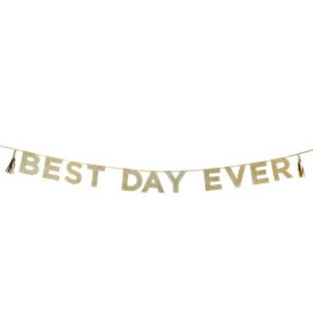 Gold Best Day Ever Garland I Rapunzel Party Decorations I My Dream Party Shop I UK