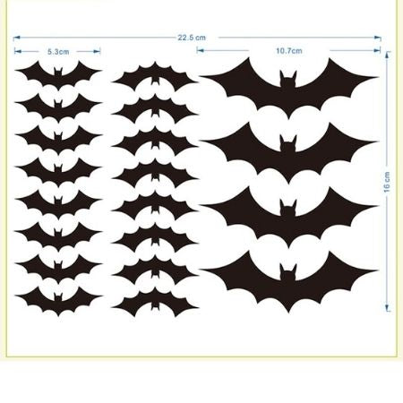 Black Bat Stickers I Halloween Party Supplies I My Dream Party Shop UK